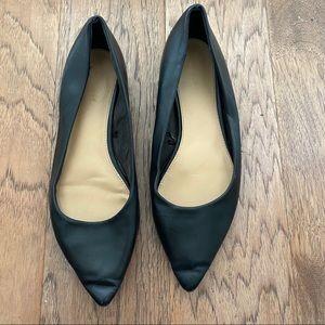 Express Black Pointed Toe Black Flats